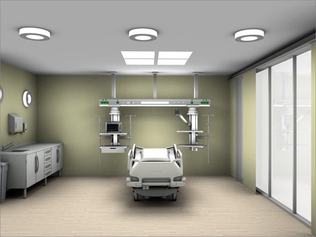 ชุดชั้นวางอุปกรณ์ทางการแพทย์ Beam Ceiling Pendant for ICU